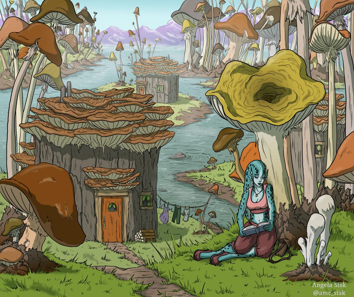 Angela Sisk mushroom village entry